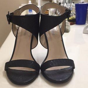 Call it Spring black sandals